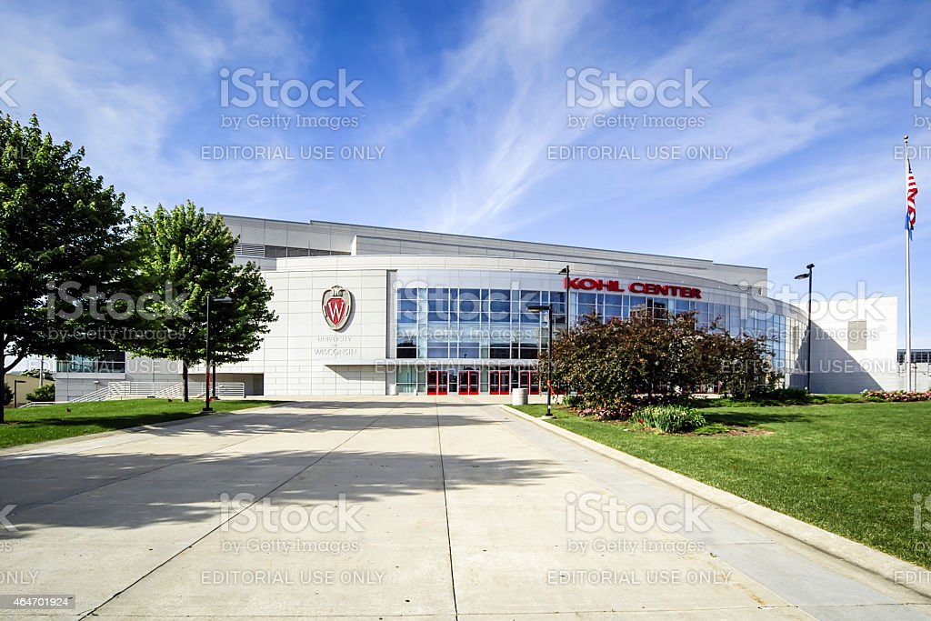 The Kohl Center at the University of Wisconsin–Madison. stock photo