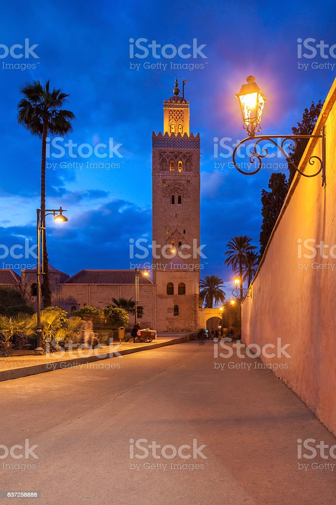 The Koutoubia Mosque stock photo