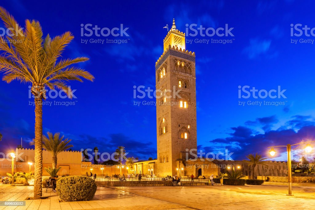 The Koutoubia Mosque stock photo