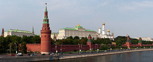 The Kremlin, Moscow - panorama Kremlin is the Russian word for