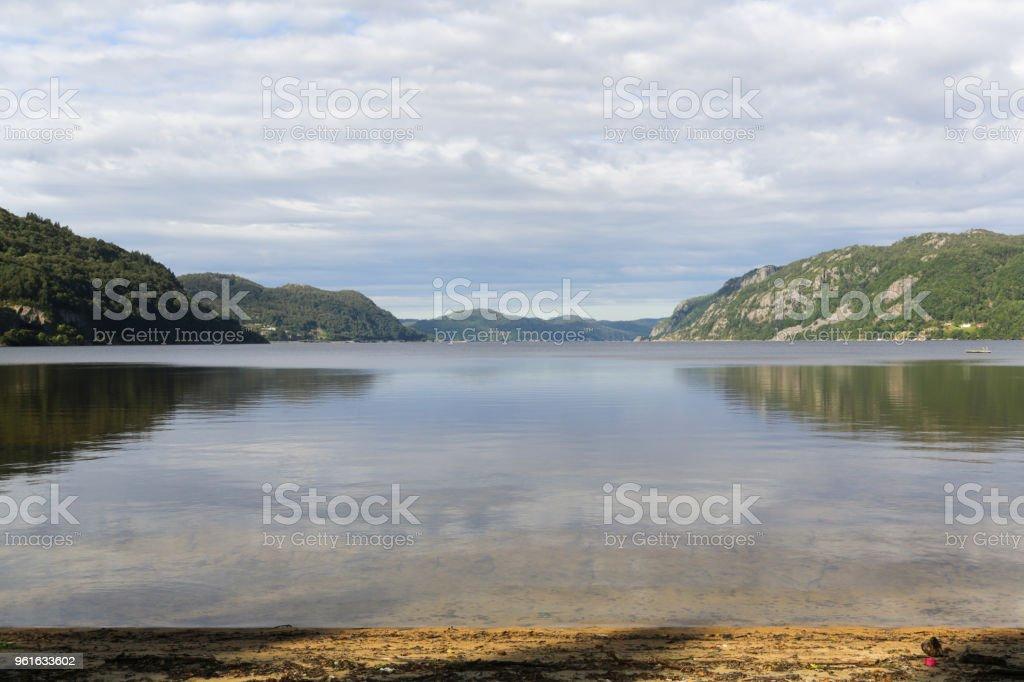 The Kristiansand coastline stock photo