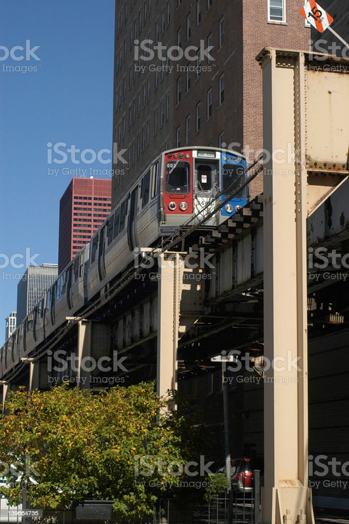 The L train and platform in New York City stock photo