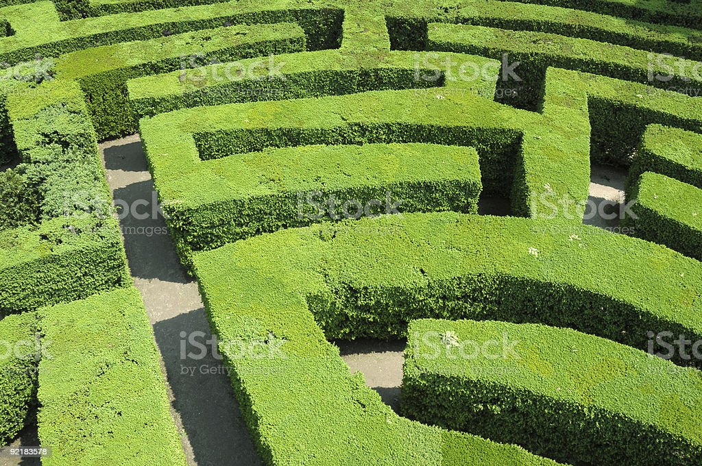 The labyrinth royalty-free stock photo