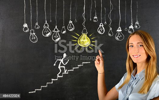 539247613istockphoto 'The ladder of success' concept 494422024