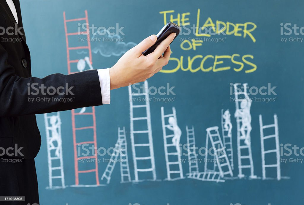The Ladder of Success royalty-free stock photo