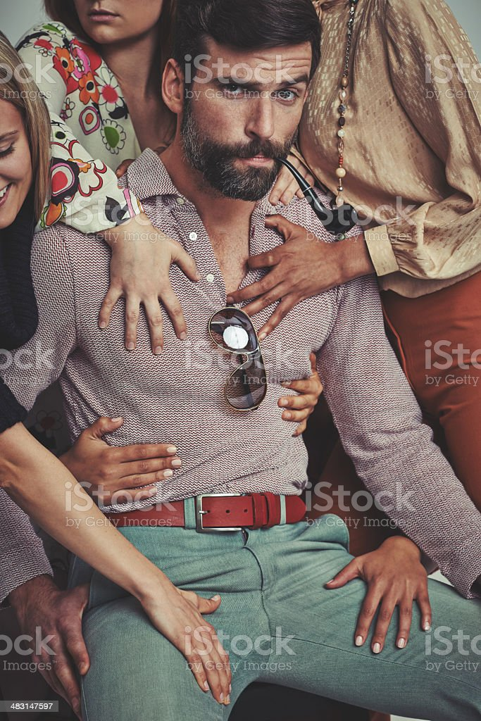 The ladies love me! stock photo