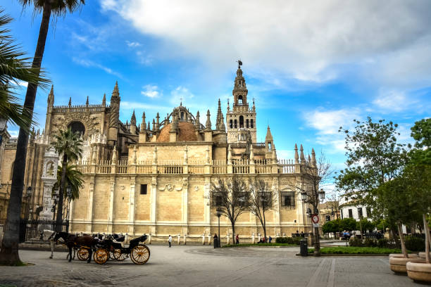 The Lady of Faith Cathedral in Seville Spain stock photo