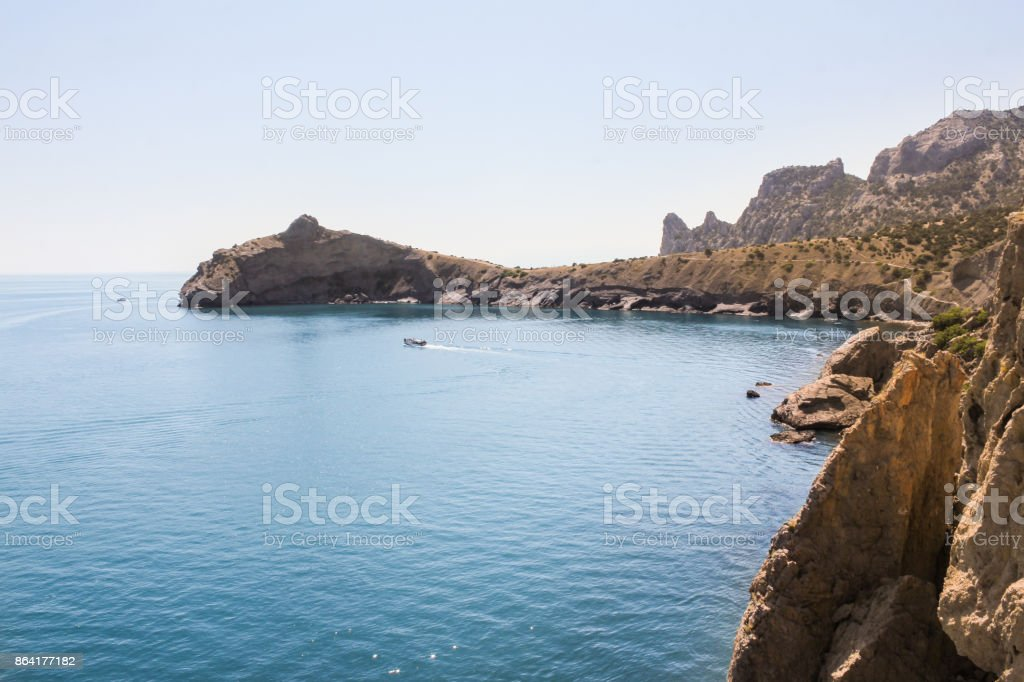 The lagoon of the Black Sea. royalty-free stock photo