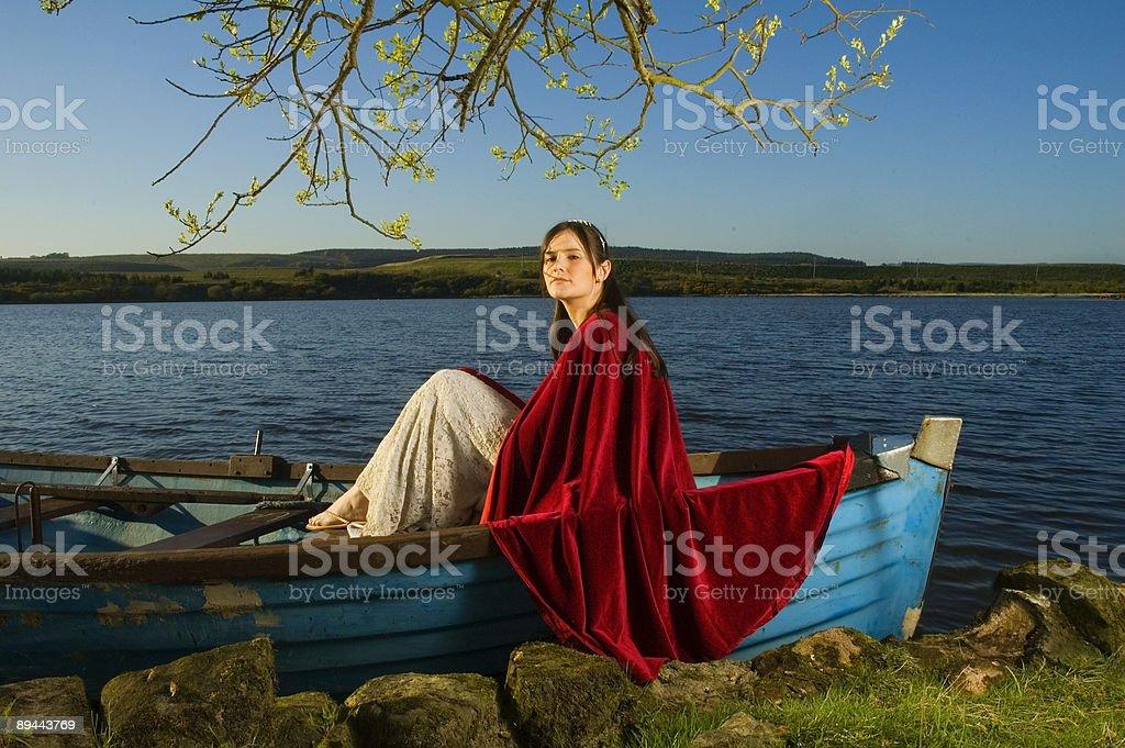 Der Lake Mädchen Lizenzfreies stock-foto