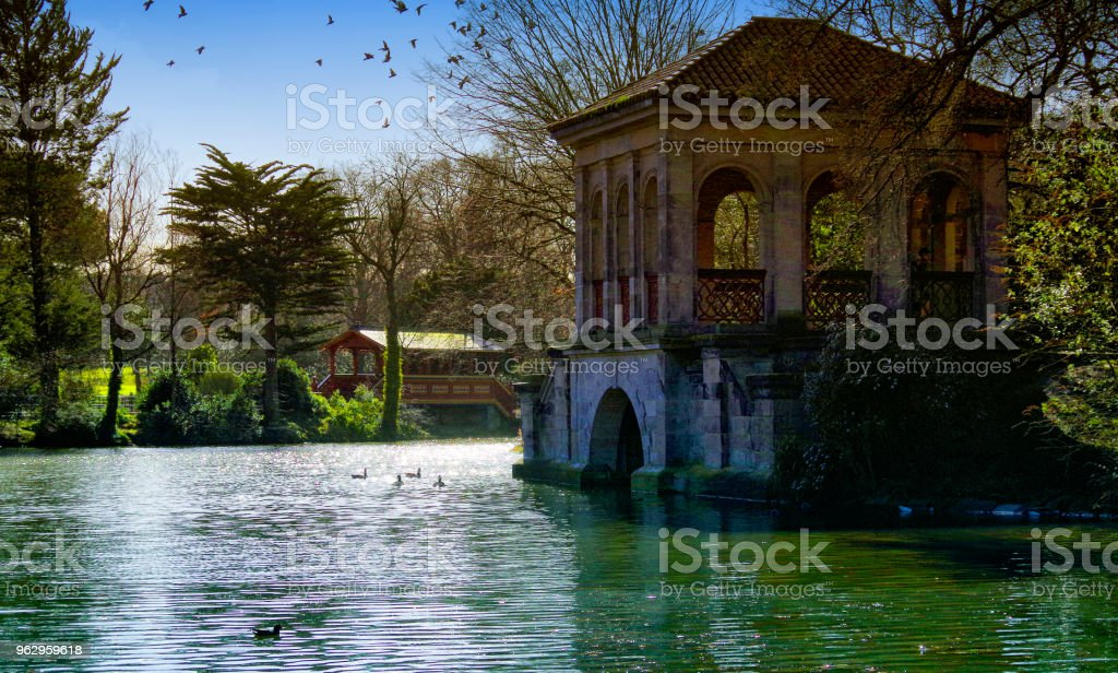 The Lake In Birkenhead Park stock photo