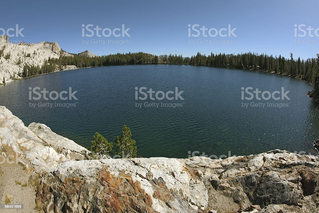 The lake in mountains royalty-free stock photo