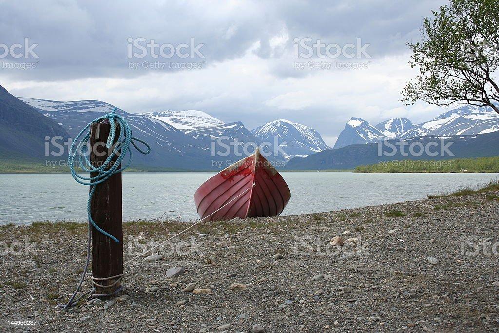 The lake Laoudojare stock photo