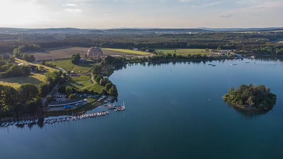 The lake Steinberger See next to Schwandorf in Bavaria