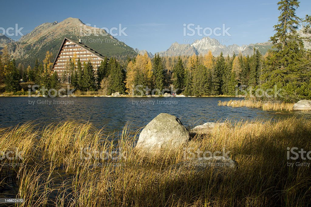 The lake Strbske pleso royalty-free stock photo
