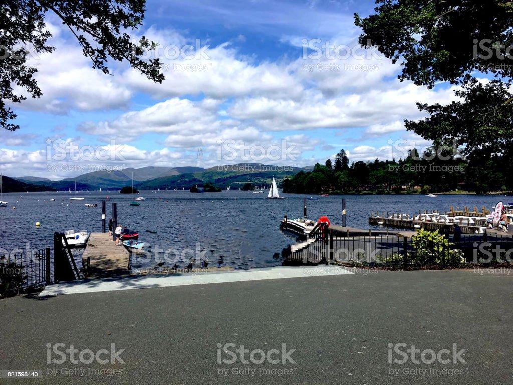 The Lake View stock photo