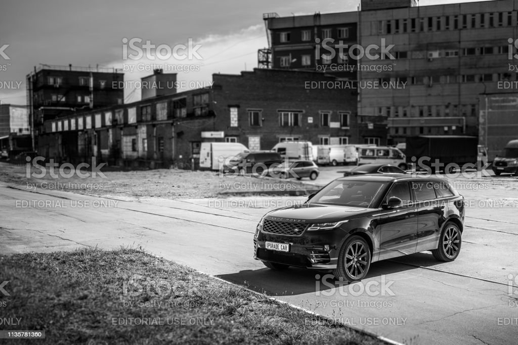 The Land Rover Range Rover Velar In Black Color Compact Luxury Crossover Suv In The Industrial Zone Stock Photo Download Image Now Istock
