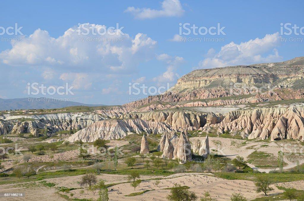 The Land Shapes Of Cappadocia stock photo