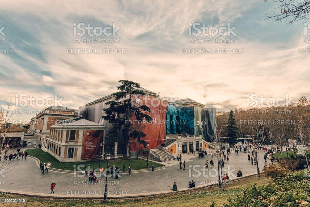 the landmark museum in Madrid stock photo