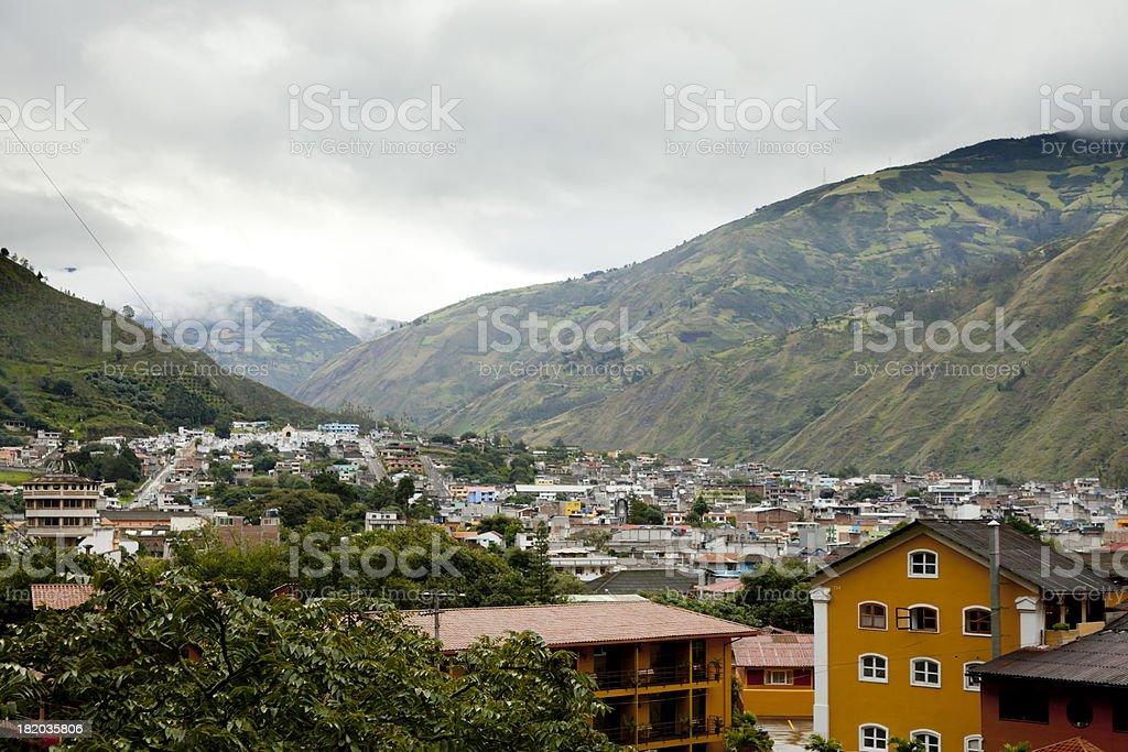 The Landscape of Banos, Ecuador stock photo