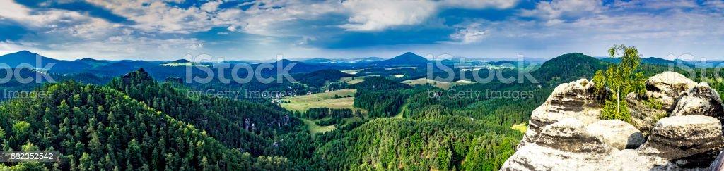 Het landschap van Tsjechisch Zwitserland royalty free stockfoto