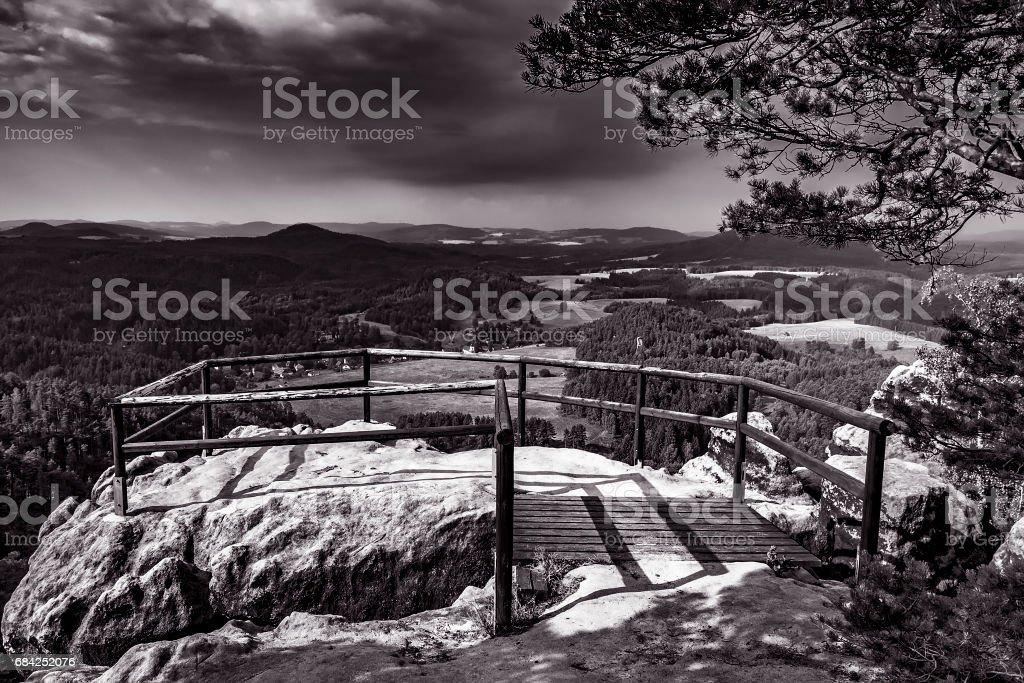 The landscape of Czech Switzerland royalty-free stock photo