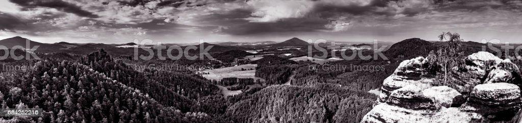 捷克瑞士的風景 免版稅 stock photo