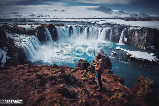 istock The Landscape of Godafoss Waterfall, Iceland 1237876607