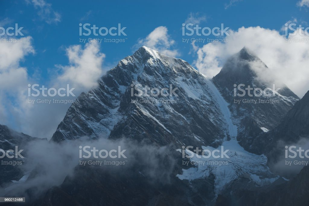 The landscape of the Everest's   eastern face in Tibet, China stock photo