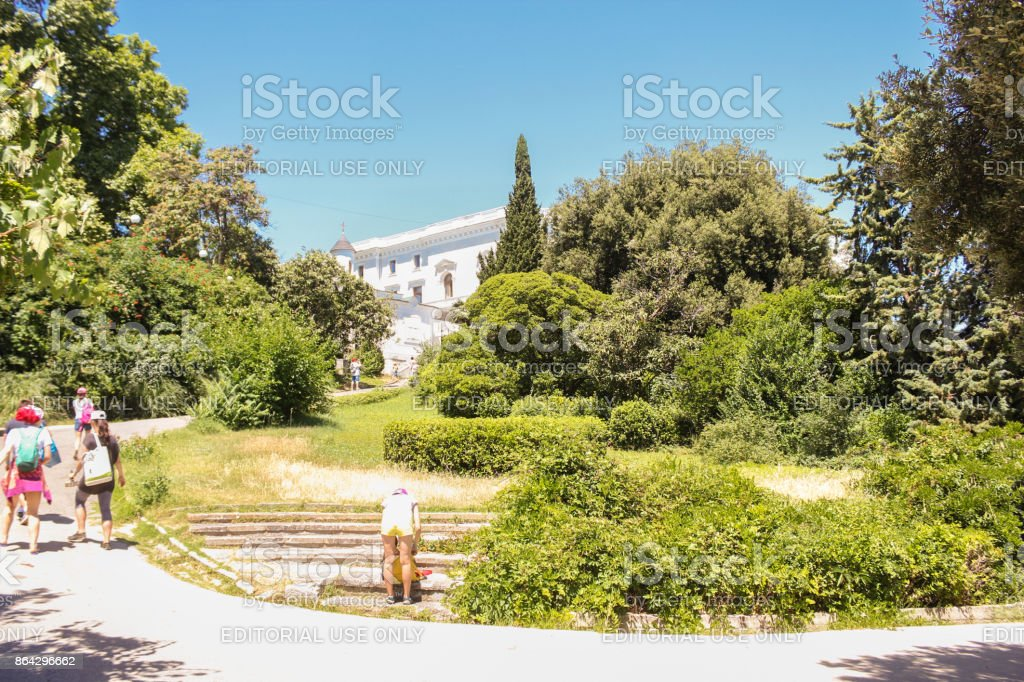 The landscape of the Levadia Park. royalty-free stock photo
