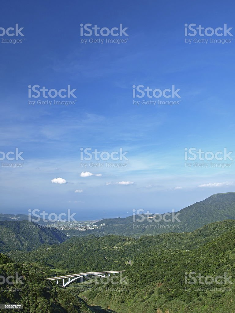 The Landscape of Yang-Ming Mountain in Taipei,Taiwan royalty-free stock photo