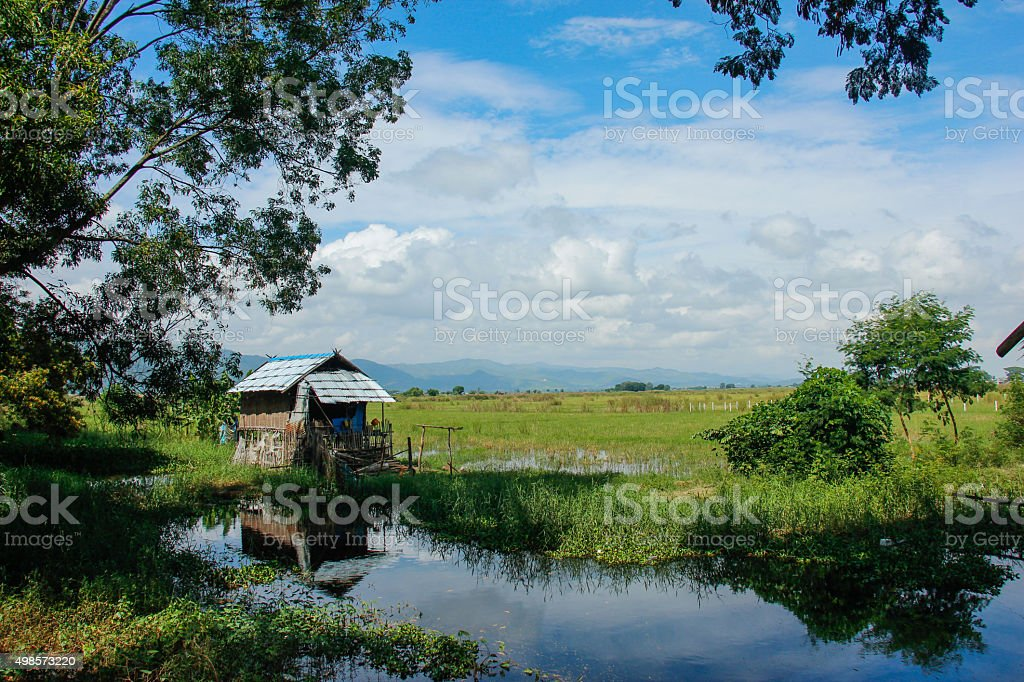 The landscapes of Nyuangshwe stock photo