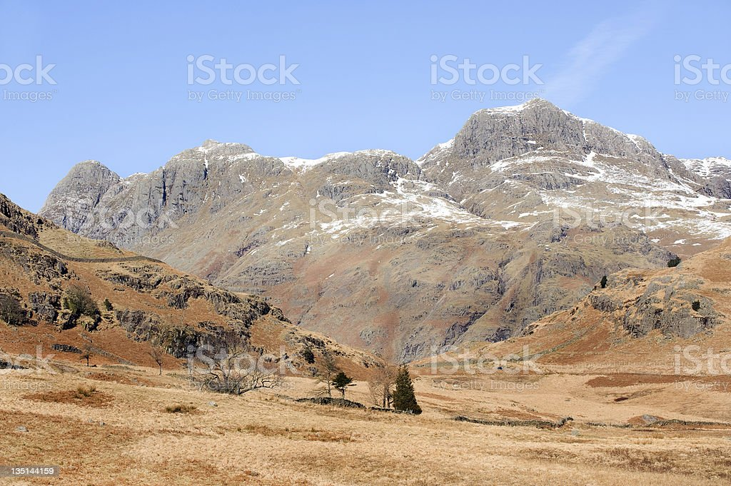 The Langdale Pikes royalty-free stock photo
