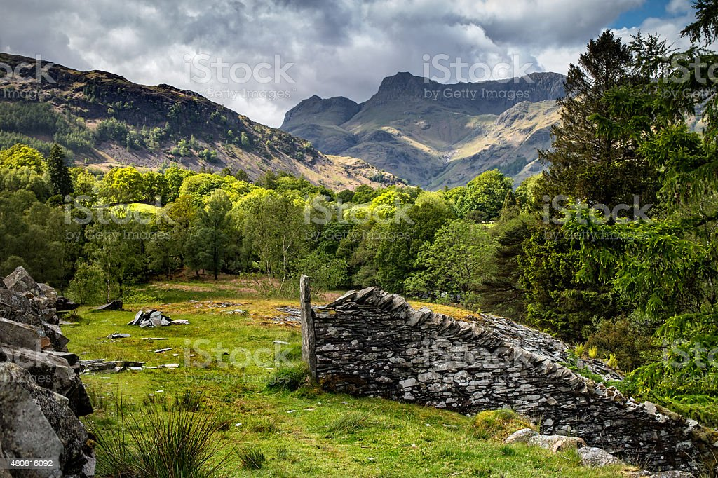 The Langdales From Chapel Stile stock photo