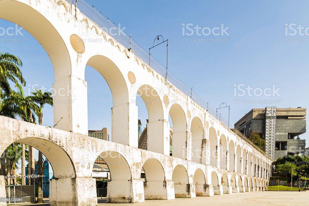 The Lapa Arch in Rio de Janeiro, Brazil stock photo