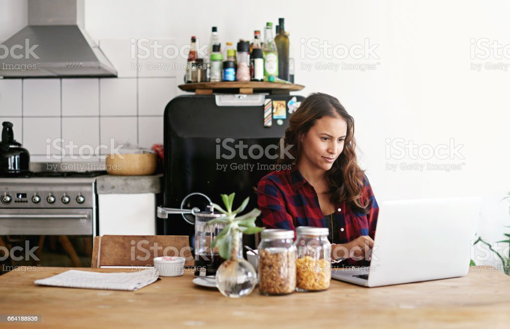 The laptop lifestyle comes with a lot of freedom stock photo