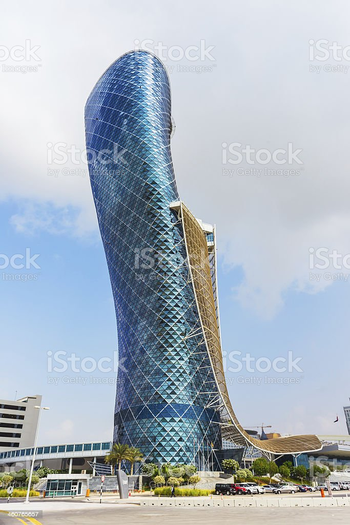 The large blue Capital gate tower​​​ foto