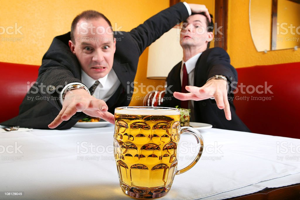 The Last Beer!!!! stock photo