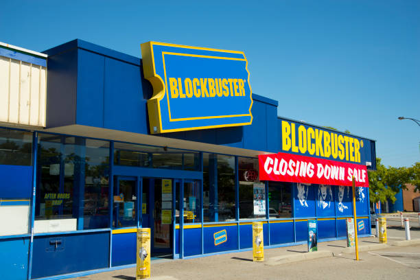 The last Blockbuster video store in Australia closing down in the suburb of Morley stock photo