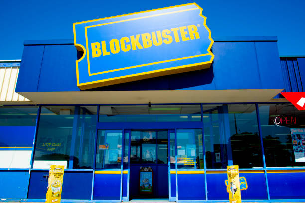 Perth, Australia - March 13, 2019: The last Blockbuster video store in Australia closing down in the suburb of Morley stock photo