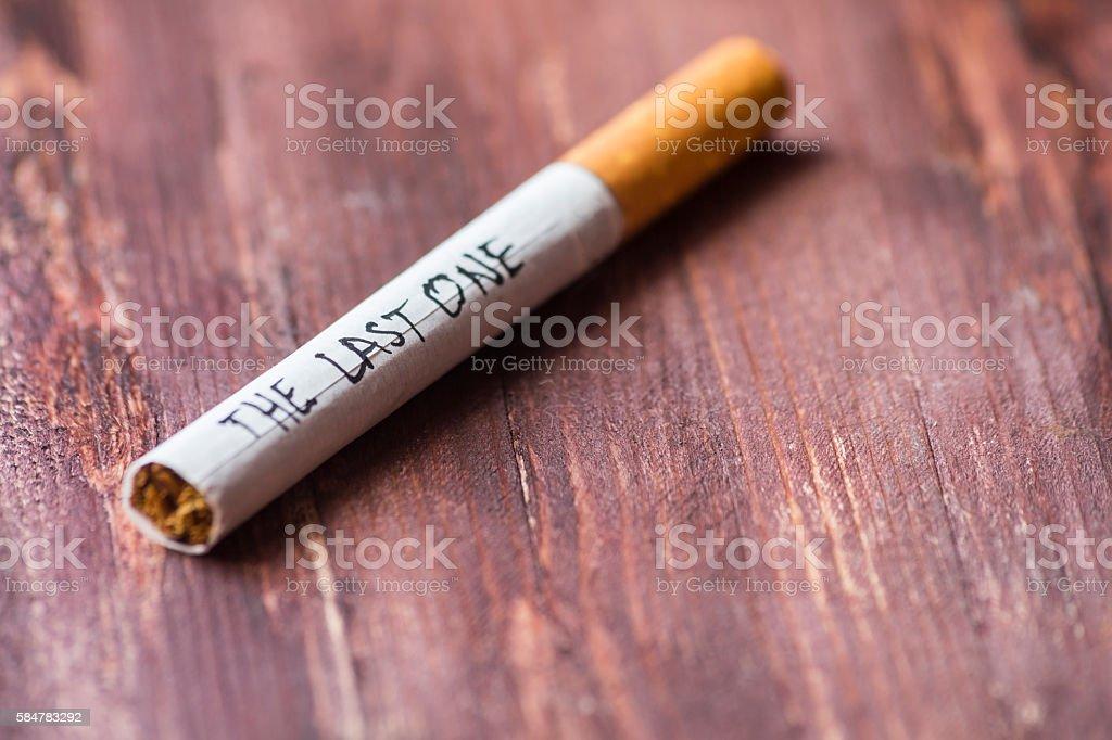 The last cigarette stock photo