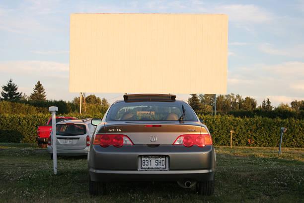 The last drive-in Theatre stock photo