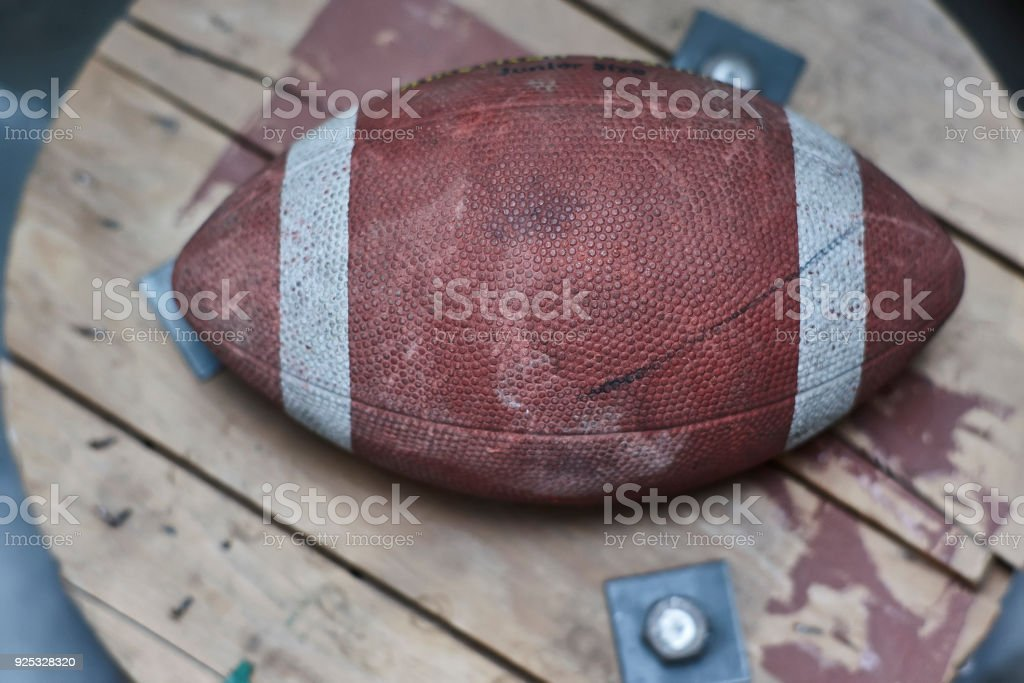 The last football game stock photo