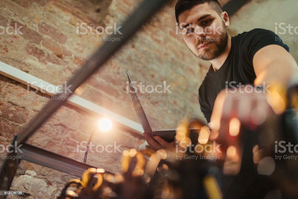 The last one to plug-in stock photo