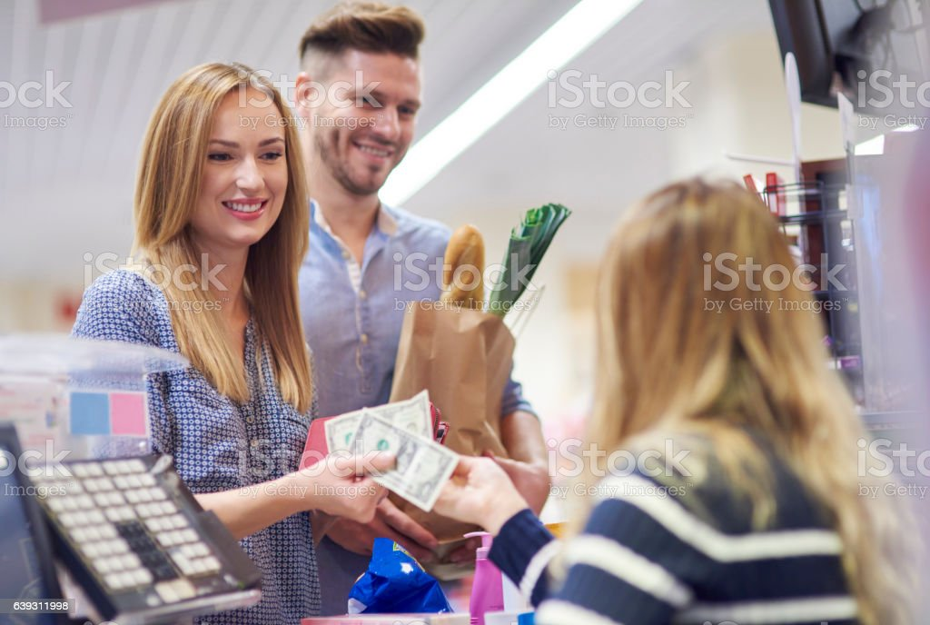 The last phase of shopping stock photo
