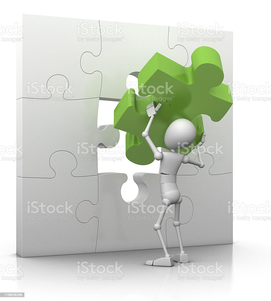 the last puzzle piece - solution concept royalty-free stock photo
