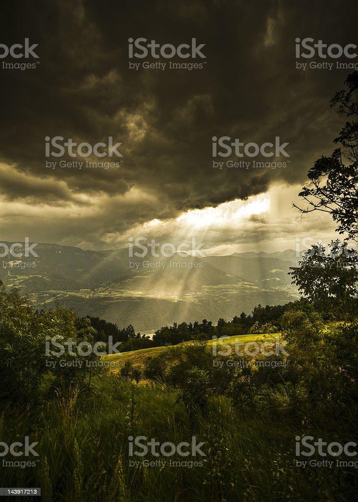 The last rays of sunshine royalty-free stock photo