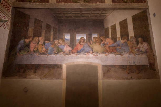 The last supper in Milan stock photo