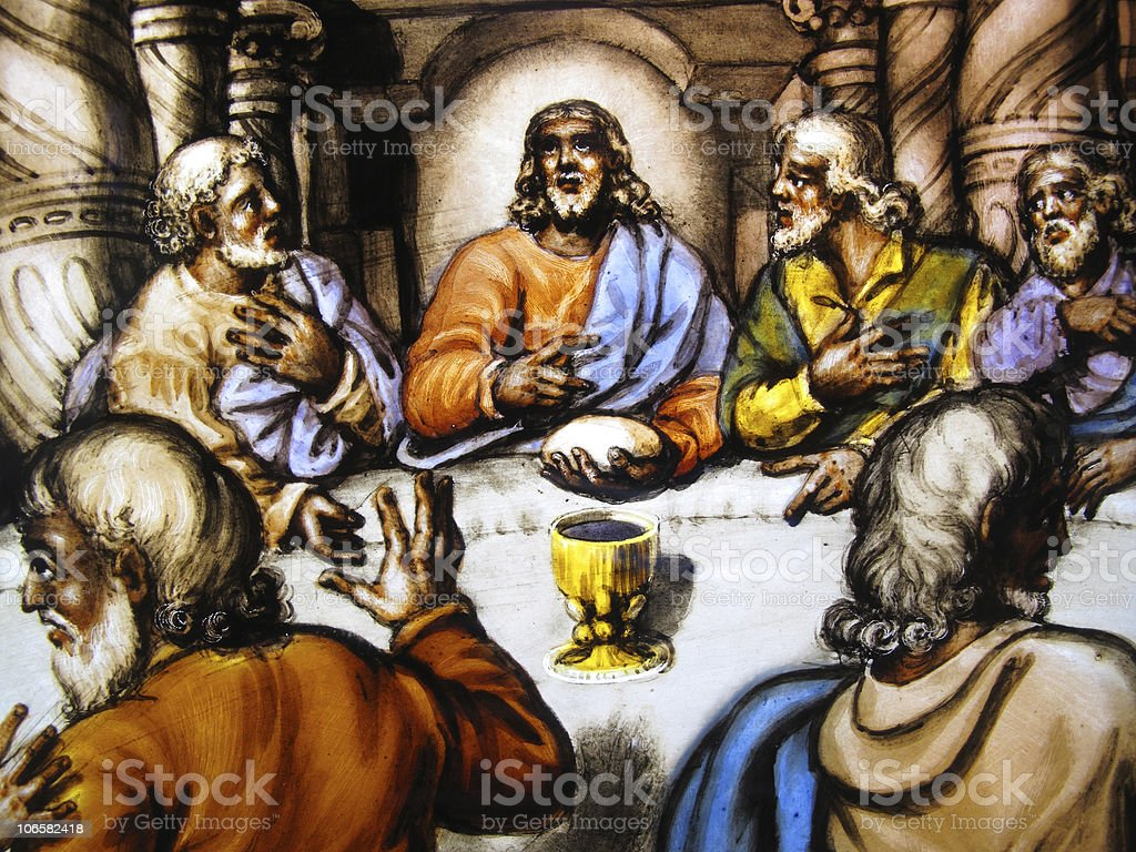 Lultima Cena Di Gesù Vetrata - Fotografie stock e altre immagini di  Anglicanesimo - iStock