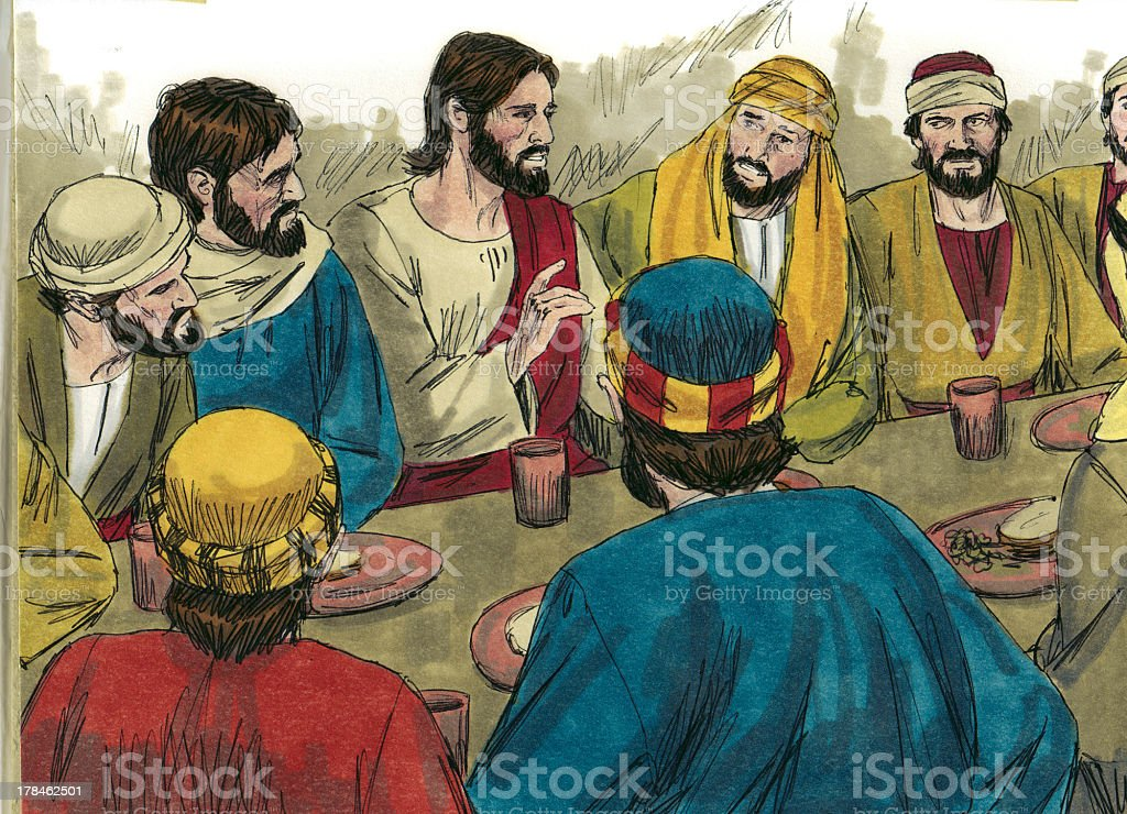 The Last Supper stock photo