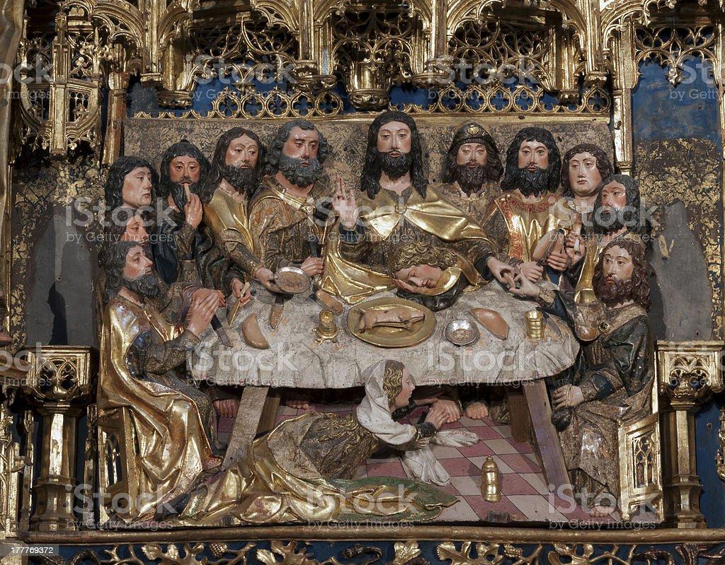 The Last Supper.Cartuja de Miraflores.Burgos. stock photo
